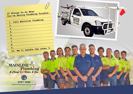 Mainline Plumbine -Team he trusted name in the plumbing industry.