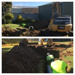 Leach drain restoration completed