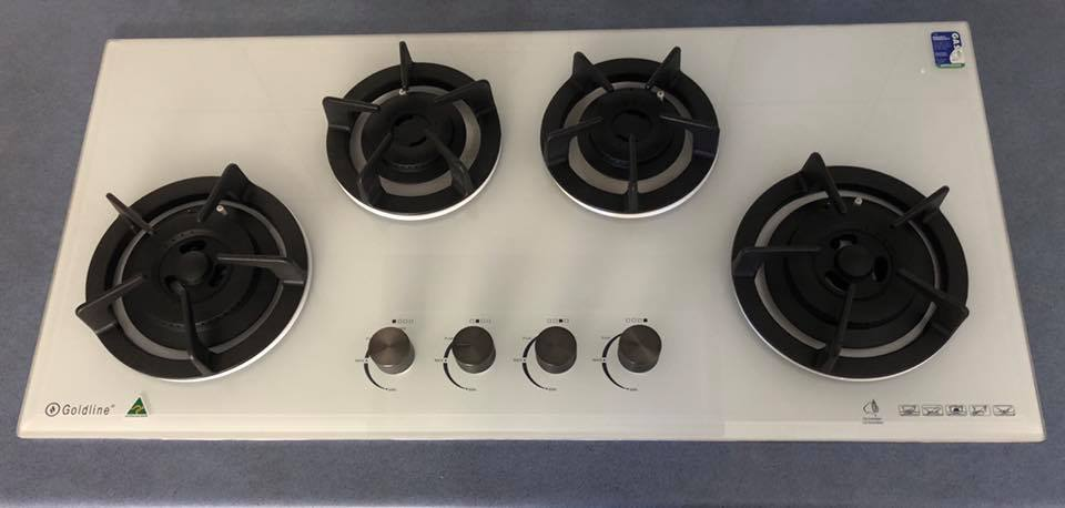 Goldline gas cooktop installed
